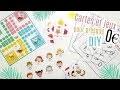 DIY COMMENT FABRIQUER CARTES ET JEUX POUR ENFANTS