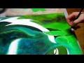 Artiste peintre : création d'une toile peinture acrylique : Zodiaque PO - AlecArt