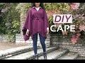DIY No sewing Fall - Winter Cape // DIY Cape Automne - Hiver sans couture