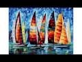 Tableaux bateaux voiliers peintures sur toile : déco murale mer marine
