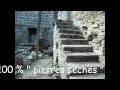 escalier monumental 100 % pierres sèches