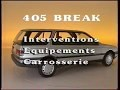 Peugeot 405 Break, interventions sur hayon, pavillon et barres de toit
