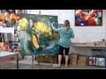 Démonstration de peinture abstraite par Jadis 1