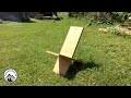 Comment construire une chaise de viking en bois