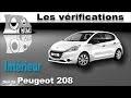 Peugeot 208: Vérifications intérieures