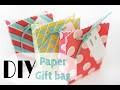 DIY Paper Gift Bag (easy)/ Sac Cadeau en papier (facile)