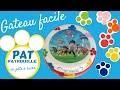FAIRE UN GATEAU PAT PATROUILLE EN PATE A SUCRE - PAW PATROL CAKE - GATEAU FACILE