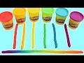 Play Doh Rainbow Licorice Fun & Easy Play-Doh Art Creations!