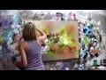 """Démonstration de peinture abstraite Elisabeth - Toile """"Emotion"""""""