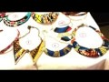 Bijoux africains en pagne wax / ankara african fabric
