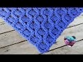 Châle couronnes crochet facile / Crowns shawl crochet (english subtitles)