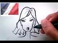 APPRENDRE a dessiner le VISAGE PORTRAIT d'un dessin de mode( leçon 2 )