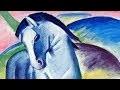 Franz Marc - Sur un grand cheval bleu