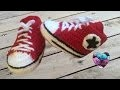 Converse chaussures bébé crochet 1/2 / Converse all stars baby shoes crochet (english subtitles)