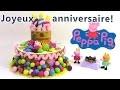 Pâte à modeler Peppa Pig Gâteau d'anniversaire ♥ Play doh Peppa Pig Birthday cake dough set
