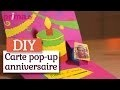 Faire une carte d'invitation pop-up pour un anniversaire - Tutoriel DIY