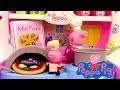 Peppa Pig Mini Pizzeria Jouet Playset Play doh ♥ Pizza shop carry case