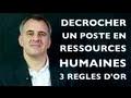 Entretien d'embauche ressources humaines, DRH, recrutement, 3 questions à se poser