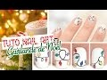 Nail art de Noël ♡ Guirlande lumineuse