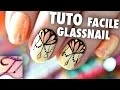 Tuto nail art Glass nail facile et motif pampilles ongles courts