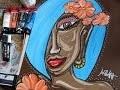 Démo Peinture Portrait (acrylique) n°1
