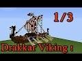 Minecraft tutoriel - Bateau viking ( Drakkar ) ! 1/3