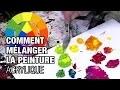 Comment faire des mélanges en peinture acrylique