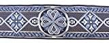 10m celtique galon webband 35mm couleur?: bleu/argent présentée par La 1A de mercerie 35004de blsi