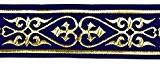 10m celtique galon webband 35mm couleur?: bleu foncé/doré présentée par La 1A de mercerie 35007de dblgo
