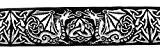 10m celtique galon webband 35mm couleur?: noir/argent de 1a de mercerie 35027de swsi