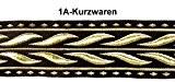 10m celtique galon webband 35mm couleur?: noir/or présentée par La 1A de mercerie 35014de swgo