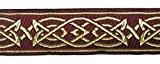 10m celtique galon webband 35mm de large Couleur?: Bordeaux/Doré présentée par La 1A de mercerie MG05-35Bogo