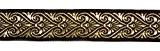 10m celtique galon webband 35mm de large Couleur?: Marron/Doré présentée par La 1A de mercerie 35003de brgo