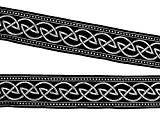 10m Nœud Celtique loin webband galon 33mm couleur?: noir/argent de 1a de mercerie 35034de swsi