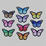 10Papillons à broder coudre sur Patch ecusson brodé Applique Tissu DIY