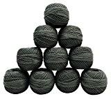 10 Pcs coton gris Crochet fil à tricoter mercerisé broderie Fils Frivolité