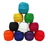 10 Pcs Enfilez Mercer coton fil à crocheter Fils Artisanat Frivolité tricot broderie