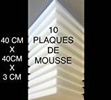 10 Plaques mousse polyuréthane 40X40 X3cm tapissier ameublement galette chaise