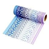 10 rouleaux Washi Tape Masking tape- Ruban Adhésif Papier Décoratif -Color C10, 15mm x 10M