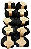 10x 50g (Hemp) chanvre Noir 228-12, 500g 100% Pelote à tricoter et crochet