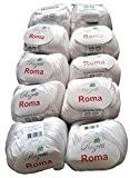 10x 50g métallisé coton blanc 201-01, 500g laine à tricoter et crochet