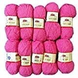10x 50g Toffee coton bébé rose 78105à tricoter, Crochet et le bricolage, 500g-Laine Super Douce Bulky 6
