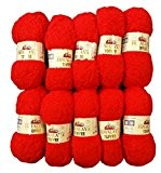 10x 50g Toffee coton rouge 73508à tricoter, Crochet et le bricolage, 500g-Laine Super Douce Bulky 6