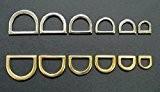 10x Anneaux en D pressée massif plaqué nickel ou en laiton plaqué 10mm, 12mm, 16mm, 20mm, 22mm, 25mm pour sacs, ...