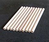 10x chevilles en bois, Craft bâtons de 10mm d'épaisseur, 10cm, 15cm, 30cm de long, 10 cm