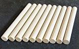 10x chevilles en bois, Craft bâtons de 15mm d'épaisseur, 10cm, 15cm, 30cm de long, 15cm