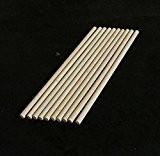 10x chevilles en bois, Craft bâtons de 5mm d'épaisseur, 10cm, 15cm, 30cm de long, 30 cm