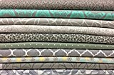 10 x FQ Assortiment de coupons de tissu en gris - 100% coton - 45,7 x 55,9 cm pouces - Fat Quarter Bundle
