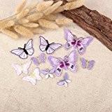 10 x Lilas Tissu Motifs Papillon Fer à coller sur Sew on Patch brodé