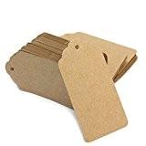 100 Etiquettes Tags en Papier Kraft Carte Feuille Scrapbooking Cadeau Artisanat